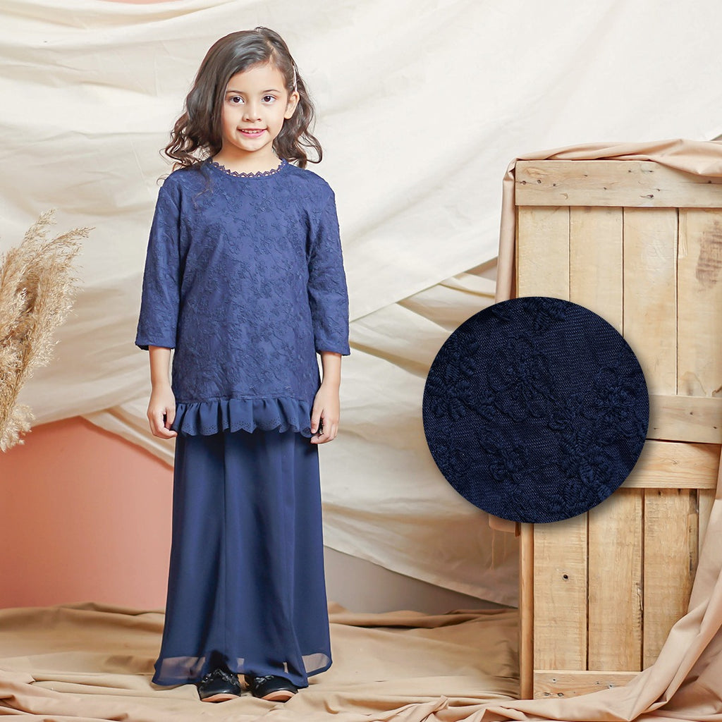 Helena Kurung Kids (Navy Blue)