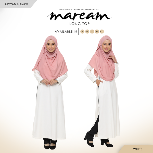 Maream Long Top Cotton T-Shirt (White)