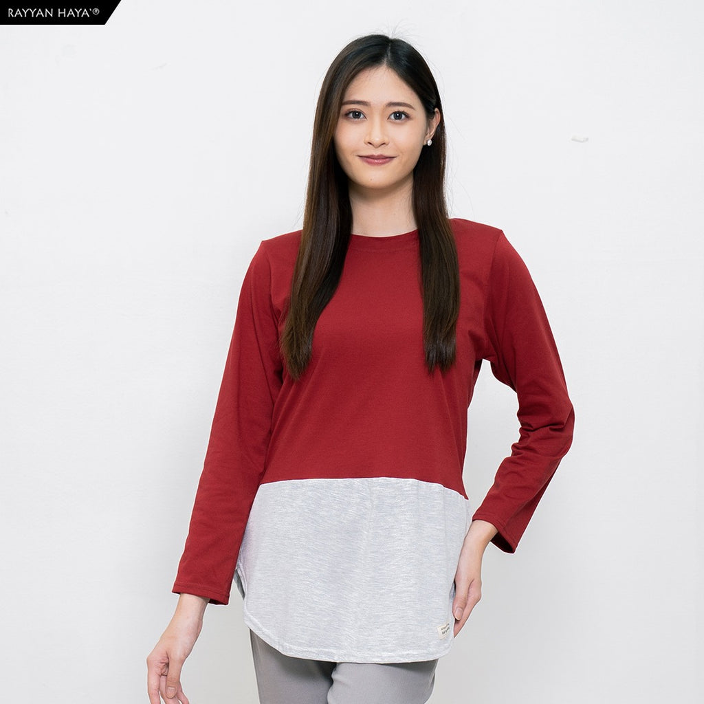 Dwi Top (Maroon Heather)
