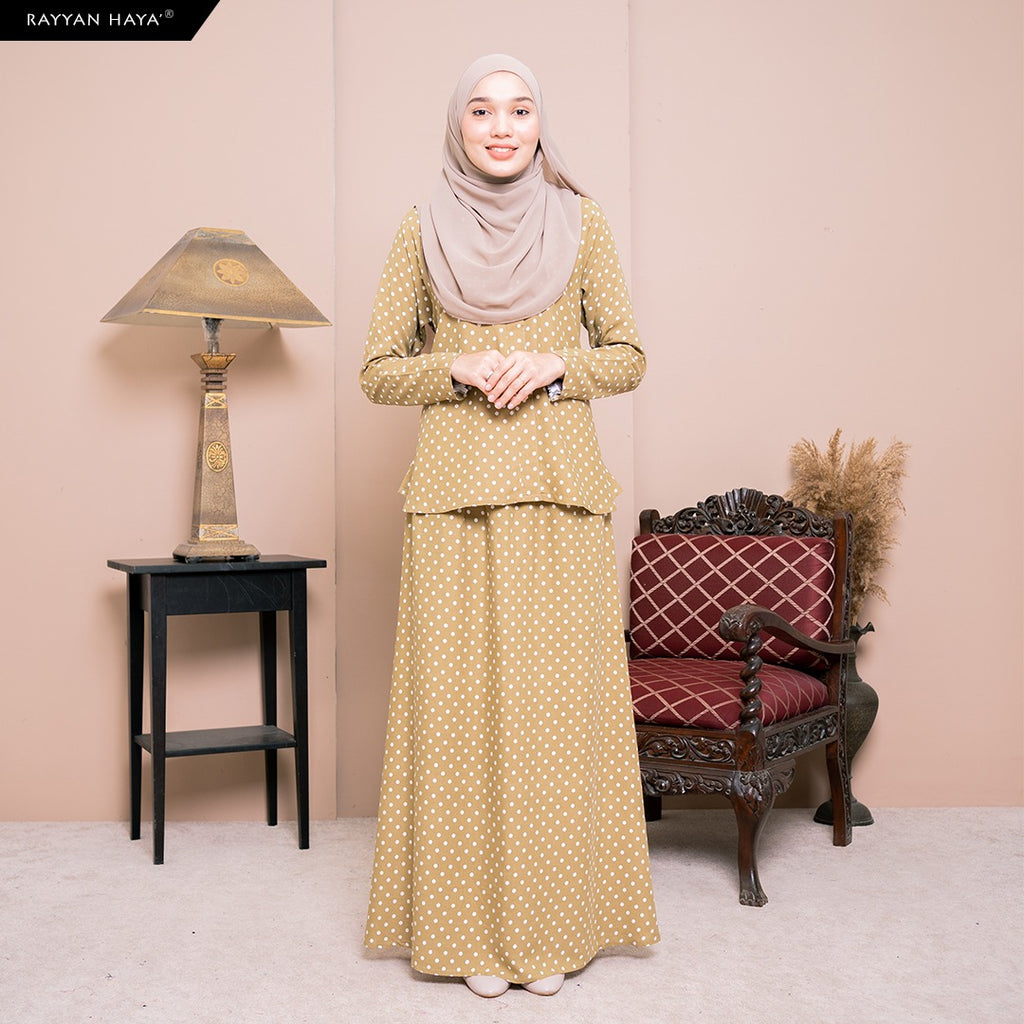 Lily Skirt Set (Olive) BUY 2 FREE 1 GIFT & BUY 3 FREE 2 GIFT
