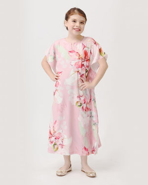 Bougainvillea Kids Kaftan (Dusty Pink)