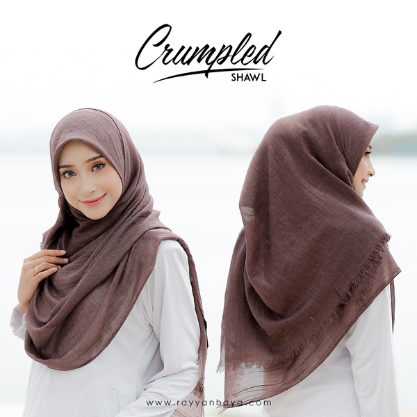 Crumpled Shawl (Brown)