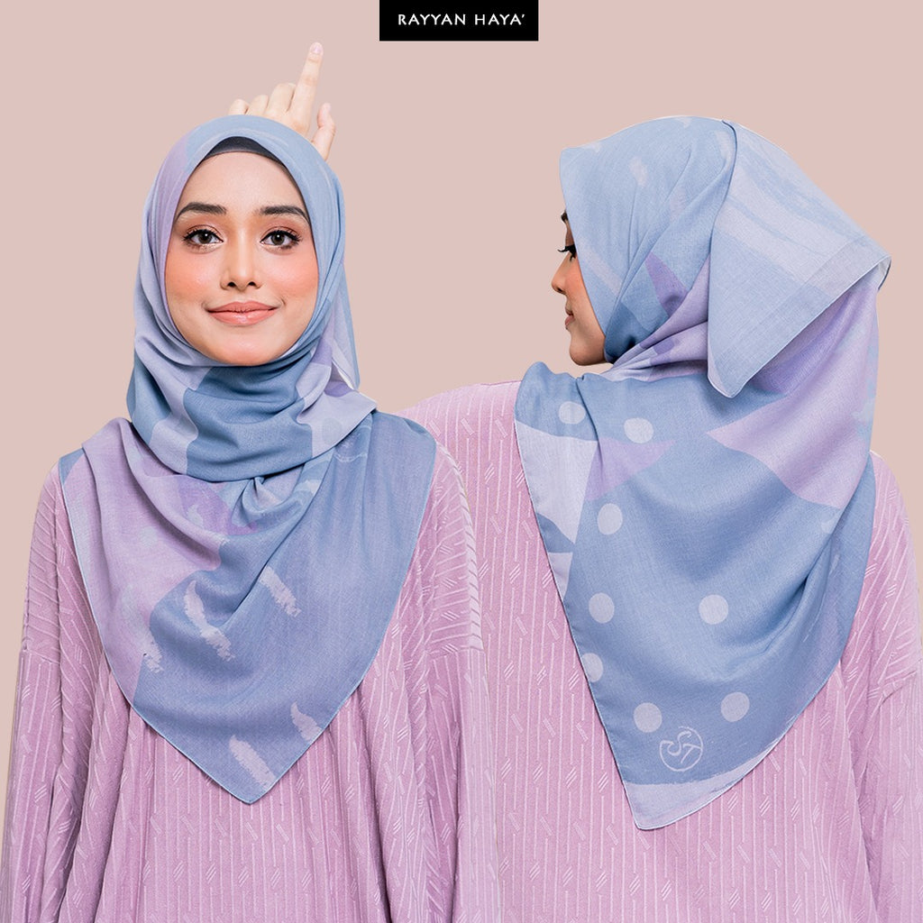 PRE ORDER Bawal Qaseh 125cm (Lavender Dust) BUY 3 FREE 3 GIFTS & BUY 6 FREE 6 GIFTS
