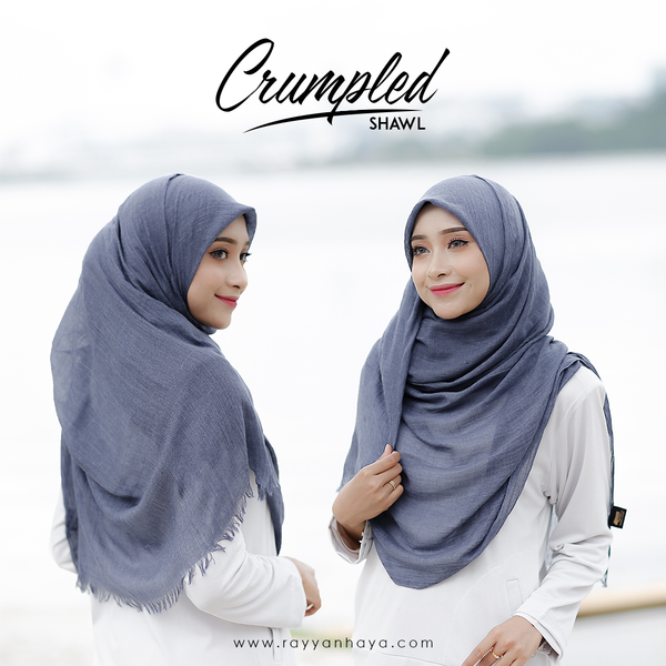 Crumpled Shawl (Denim)