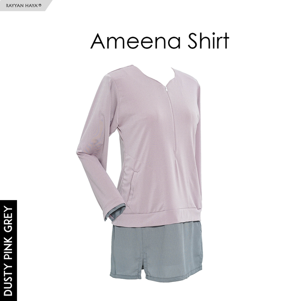 Ameena Shirt (Dustypink Grey)