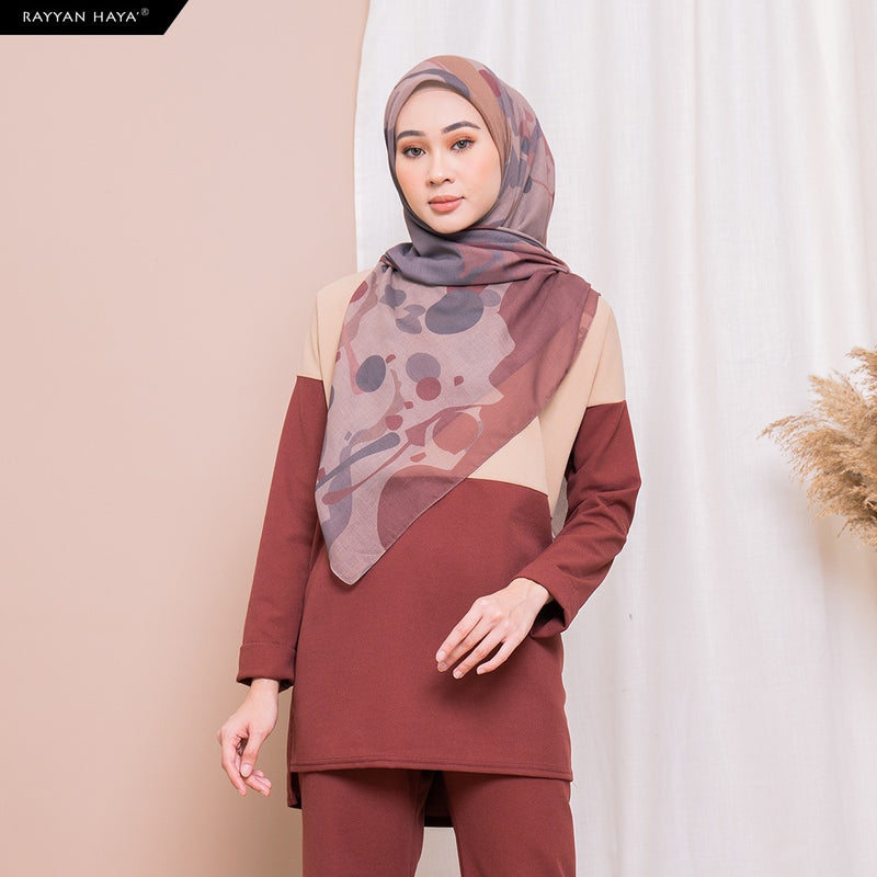 Hannah Top (Tan Scarlett) BUY 2 FREE 2 GIFTS & BUY 3 FREE 4 GIFTS