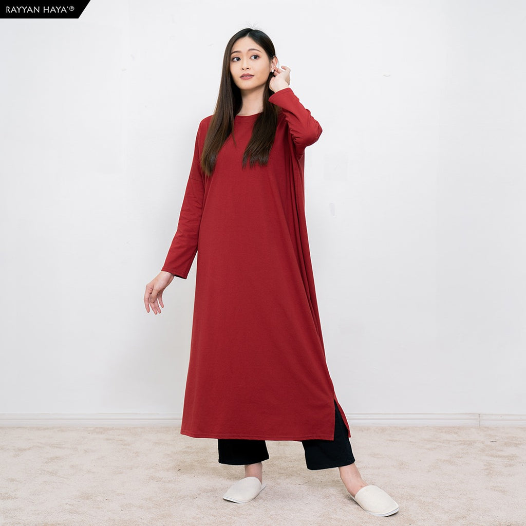 Batwing Dress (Maroon)