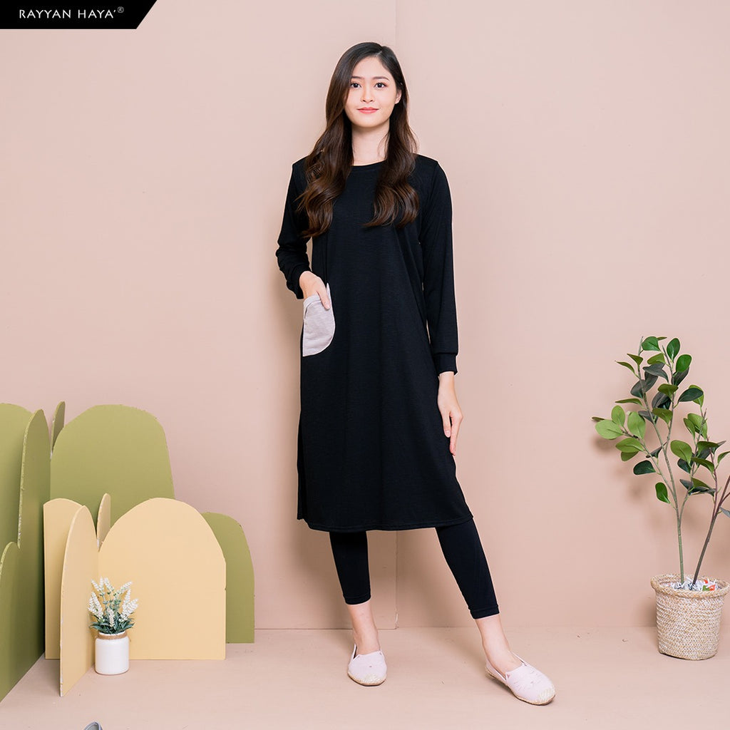 Alisa Long Top (Black)