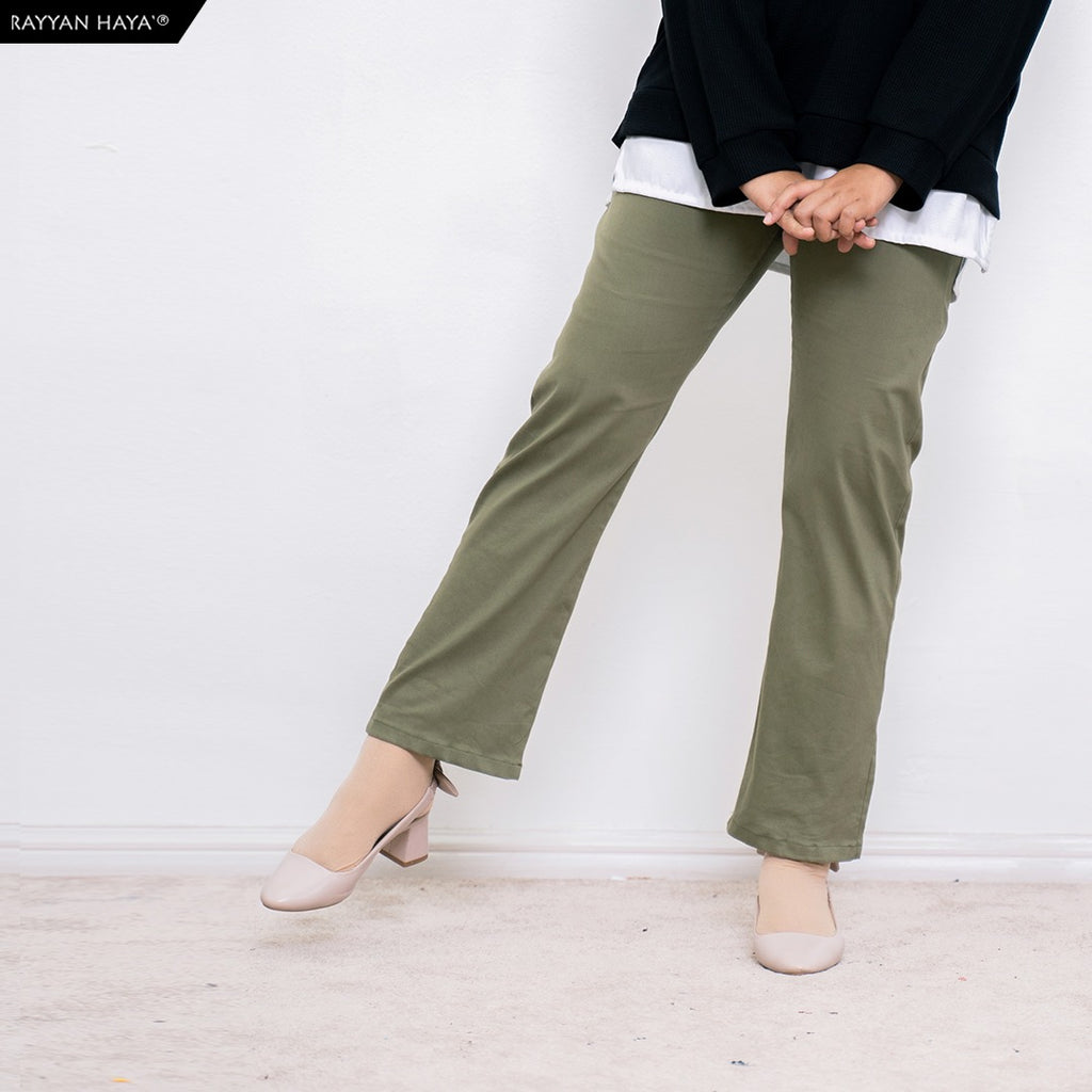 Ankle Loose Pants (Army Green)