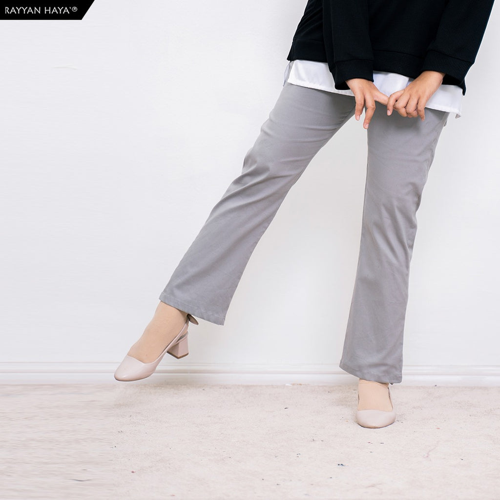 Ankle Loose Pants (Light Gray)
