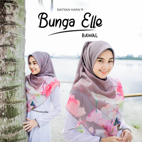"Bunga Elle Bawal 50"" (Cotton Polyester)"