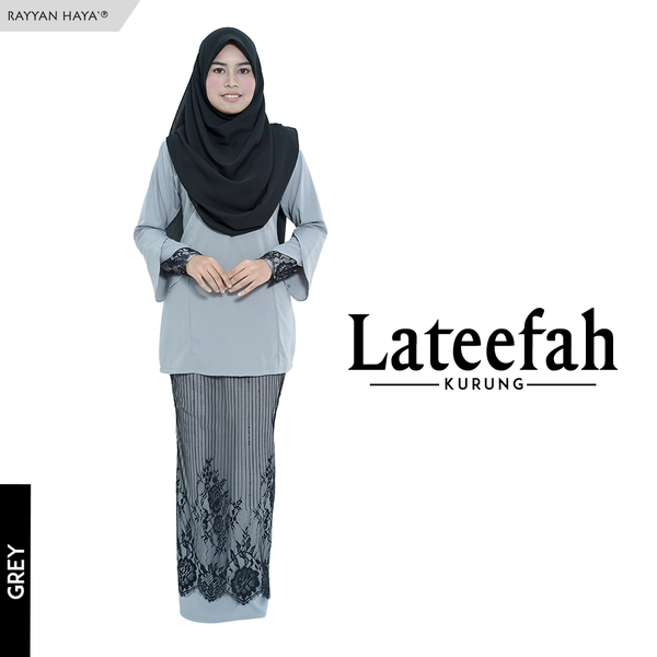 Lateefah Kurung (Grey)