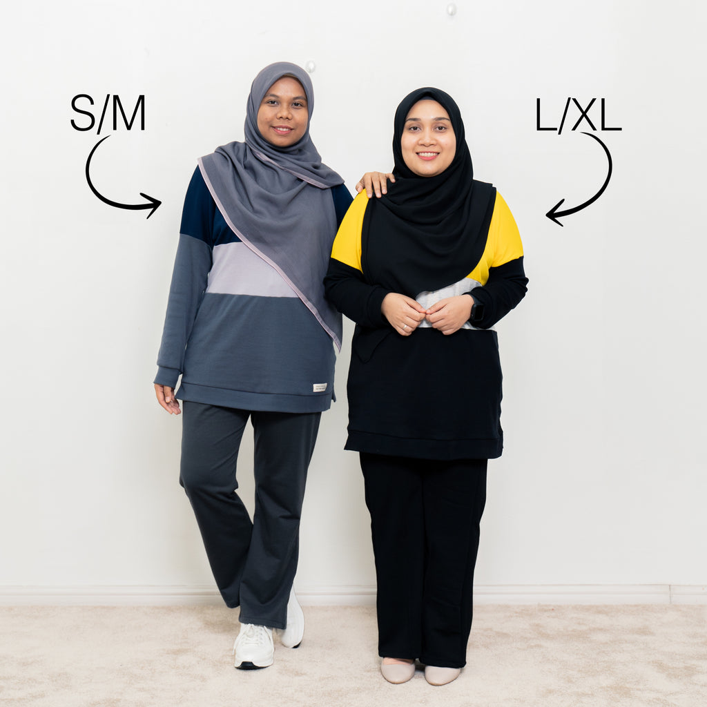 Casandra Top (Dark Blue/Heather/Grey)