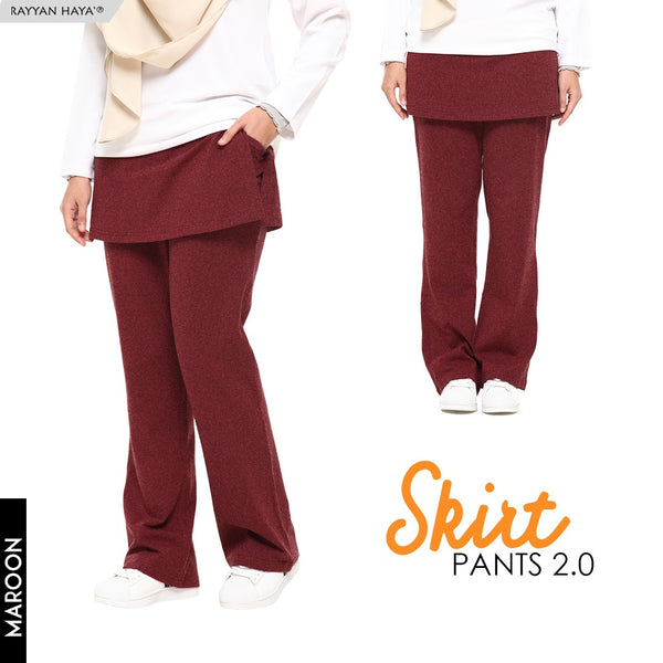 Skirt Pants 2.0 (Maroon)