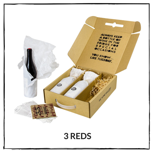 Gift box - 3 Reds - The Wine Gallery - The Wine Gallery