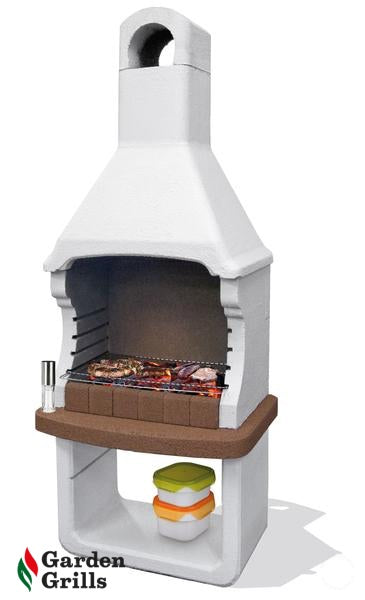Brioni. THIS BBQ IS EQUIPPED TO BURN WOOD AND CHARCOAL. ONE AVAILABLE.