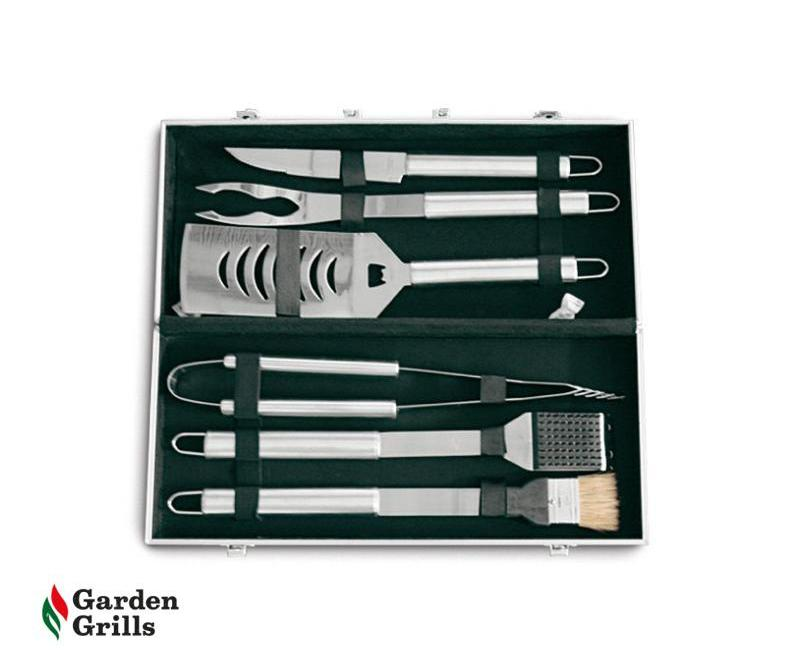 BBQ utensils in stainless steel