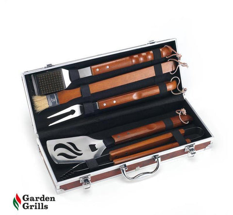 BBQ Utensils with wooden handles. ONE ONLY NOW £69.99.