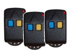 Three Lockmaster 2-button Remote Control Transmitters