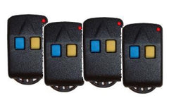 Four Lockmaster 2-button Remote Control Transmitters
