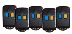 Five Lockmaster 2-button Remote Control Transmitters