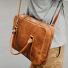 The Grab & Go Leather Laptop Bag