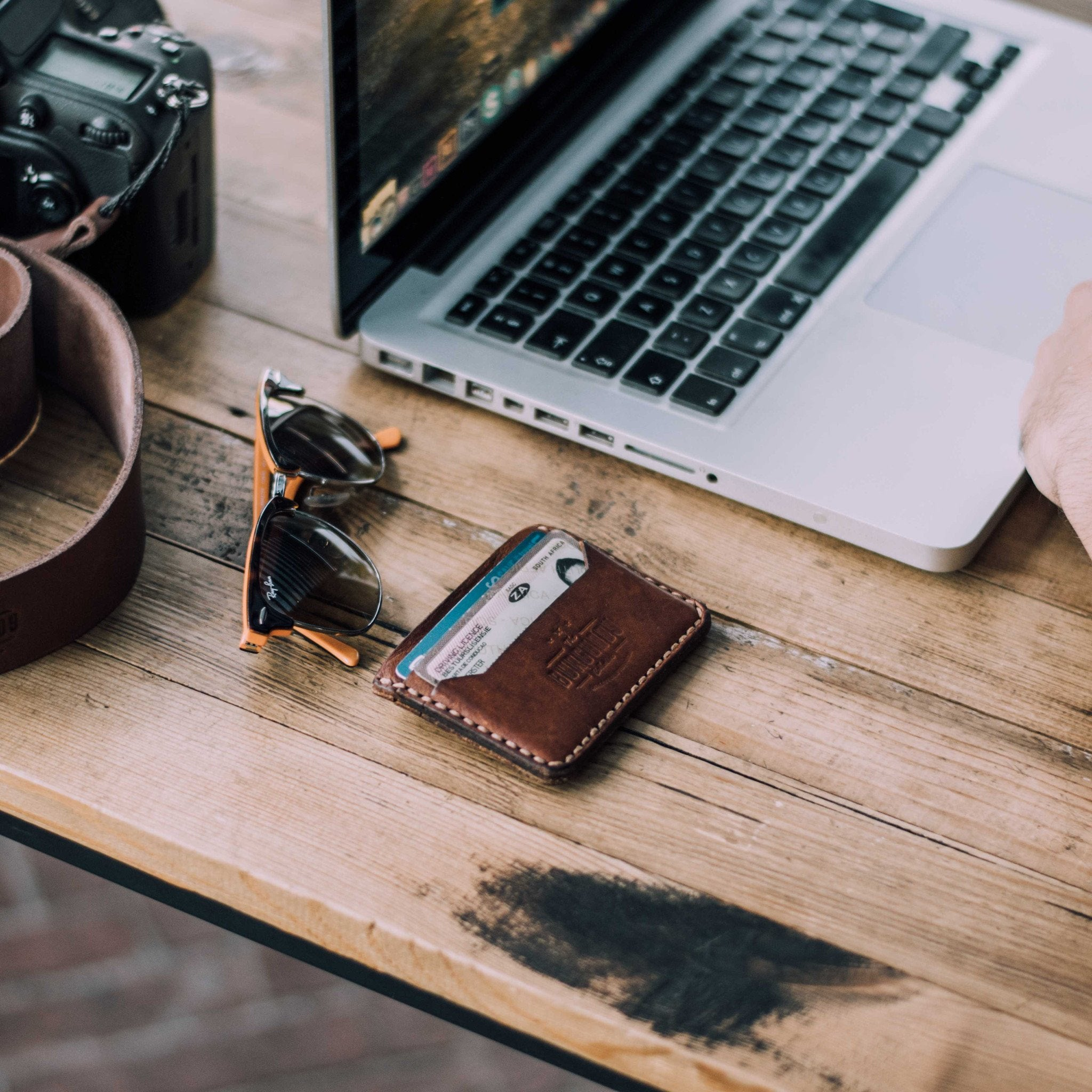 Products Burgundy Collective Digital Canvas Chocolate Leather Mens Minimalist Wallet Made In Stellenbosch South Africa Trendy Quality Lifestyle