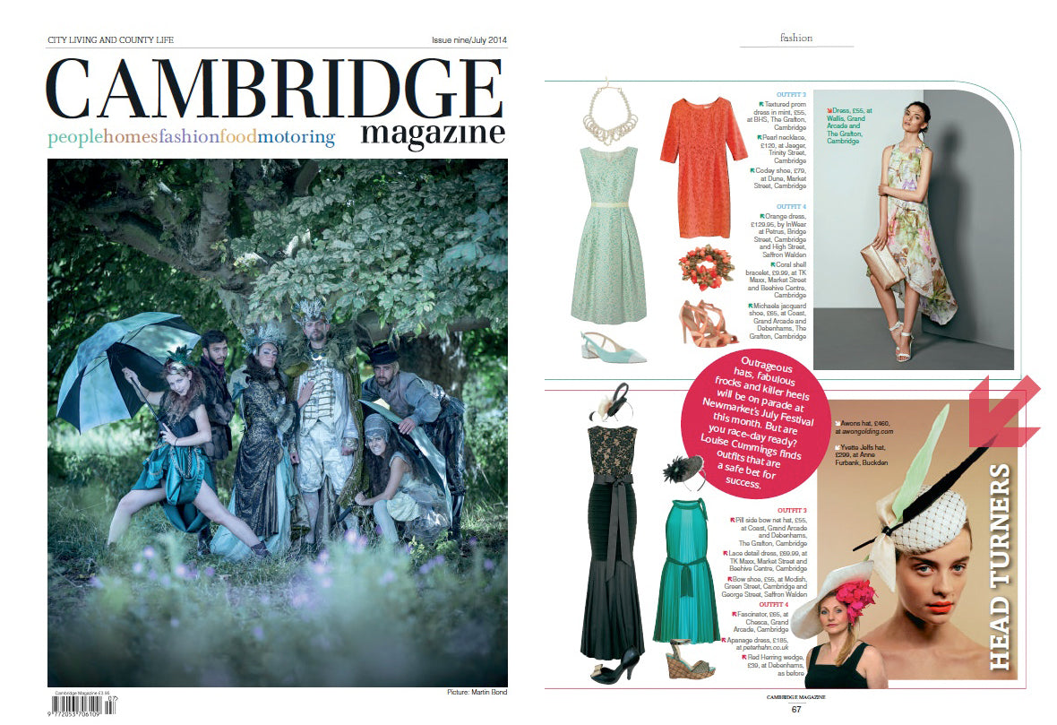 Chesca featured in Cambridge Magazine - Opal the new colour of the season, looks great with pastel tone