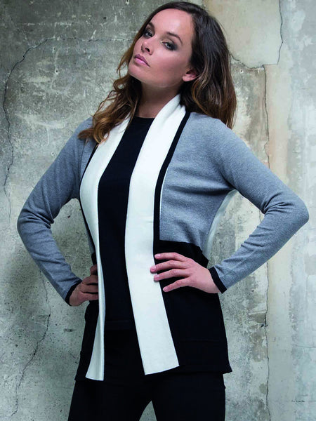 Passioni Grey/Black Cardigan