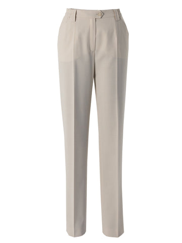 Michele Beige Slim Leg Classic Smart Trouser Regular