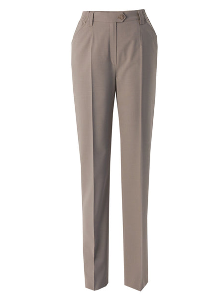 Michele Taupe Slim Leg Classic Smart Trouser Regular