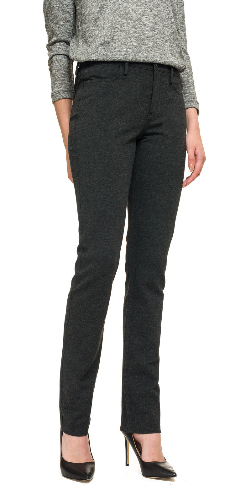 NYDJ Charcoal Cindy Slim Jersey Trouser