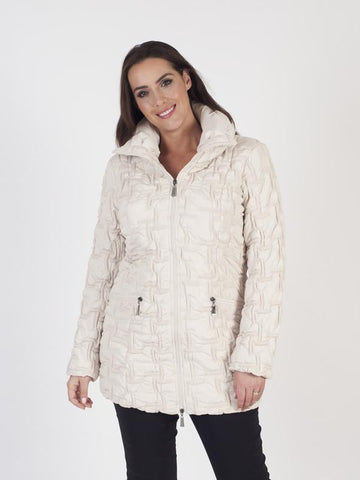 Cream Quilted Coat