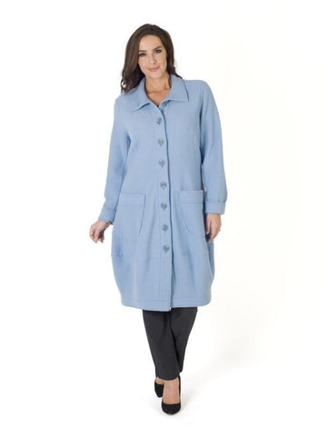 Blue Wool Unlined Coat