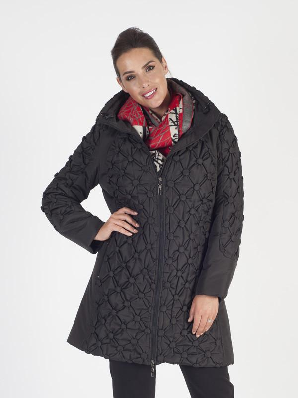 Black Button Quilted Coat