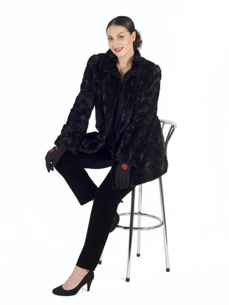 Black Faux Fur Swing Coat - LIMITED STOCK  Pre order 13th December