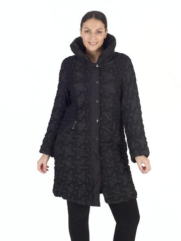 Black quilt 3/4 Coat, double box design