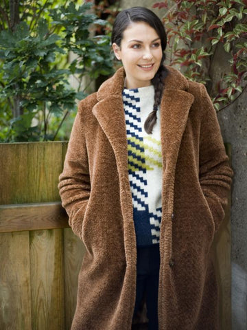 Tobacco Faux Fur Teddy Coat
