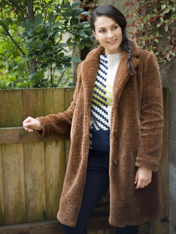 Gerry Weber Tobacco Faux Fur Teddy Coat