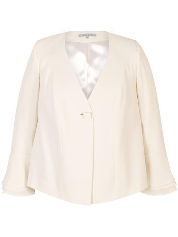 Blonde Flounce Cuff Detail Crepe Jacket
