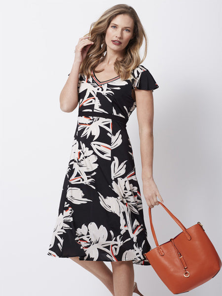 Badoo Black Floral Print Dress