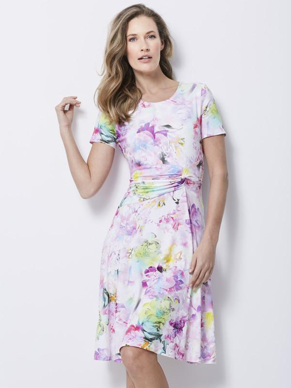 Basler White Floral Print Dress