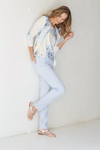 Michele Pale Blue Jeans- Short