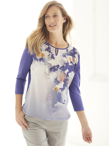 Basler Purple Printed Jersey Top