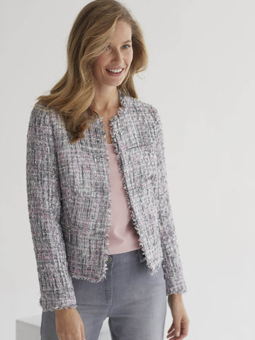 CONRAD C Soft Sparkle Tweed Jacket