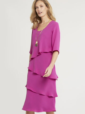 Multi Layered Crepe Dress
