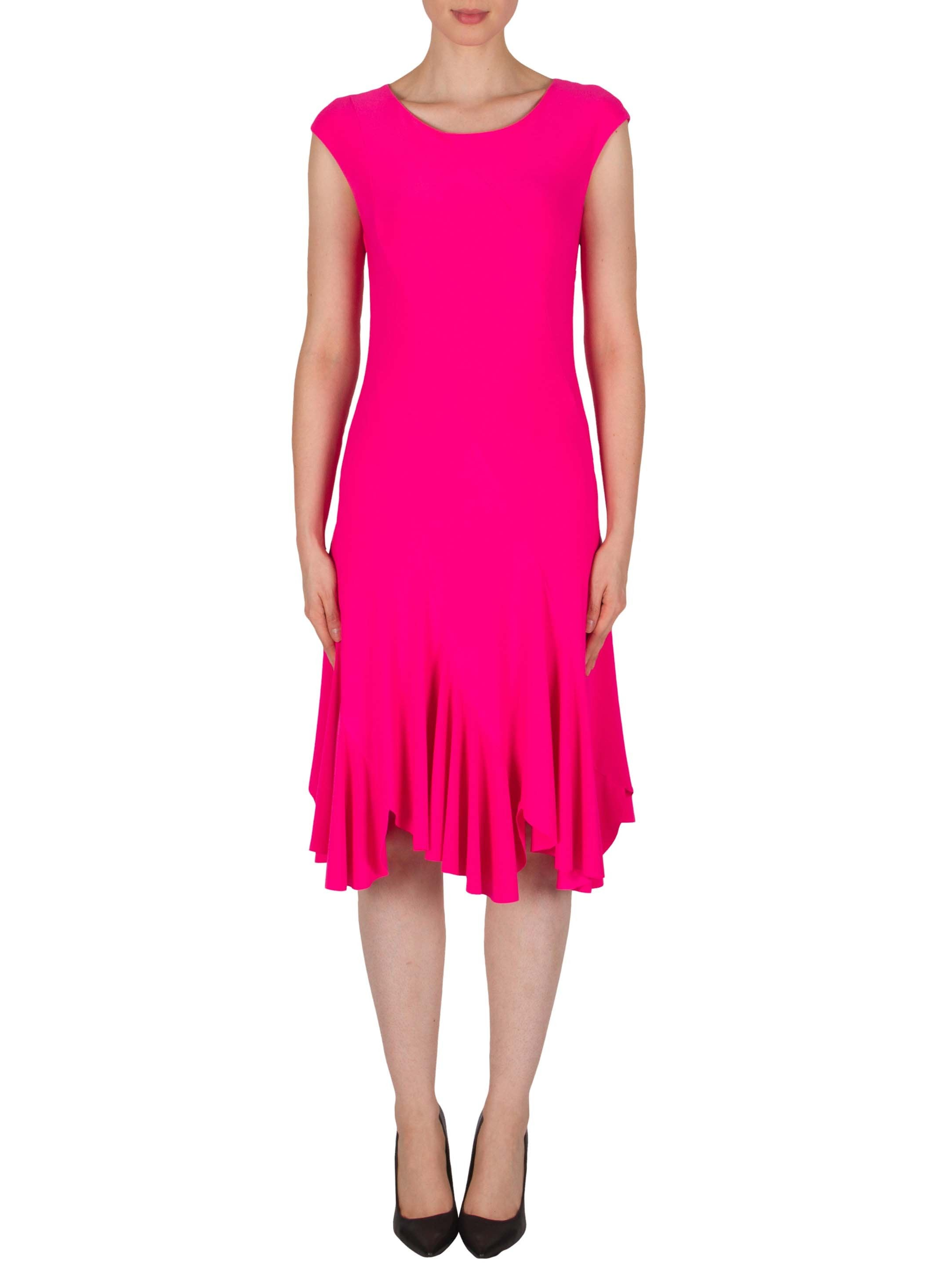 Joseph Ribkoff Pink Panelled Jersey Dress with Fluted Hem