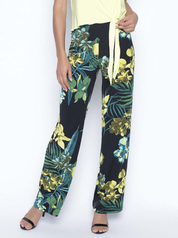 Frank Lyman Tropical Print Wide Leg Trouser