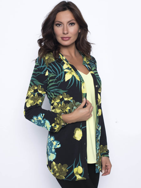 Frank Lyman Tropical Print Button Through Unlined Jacket