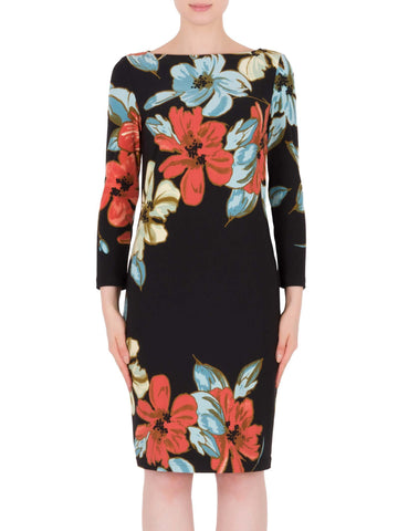 Joseph Ribkoff Large Multi Colour Floral Print Shift Dress